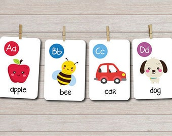 Alphabet cards, Printable Flash cards, Abc flash cards, Alphabet printables, Montessori cards, Montessori alphabet, Alphabet card set