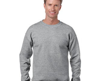 Men's Sweatshirt - Any Design in Our Shop on a Sweatshirt with Custom Colors - Adult Crewneck