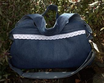Denim Nappy / Diaper Bag