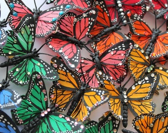 Butterfly Hair Clips with Swarovski Crystals