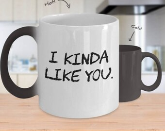 Gift for him, I Kinda Like You, Valentines Gift Girlfriend, Boyfriend gift, Husband Gift, Gift for Girlfriend, Gift for Boyfriend, Novelty