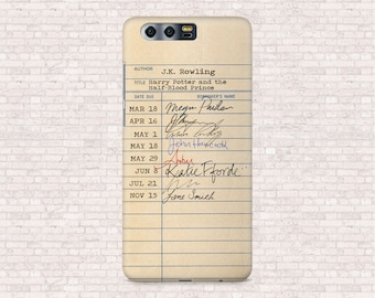 Harry Potter and the Half-Blood Prince Rowling library card - Galaxy S9, Galaxy S8plus, OnePlus 5T, OnePlus 3, iPhone X, iPhone 8, Honor 9