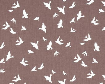 Brambleberry Ridge by Violet Craft - Flight - Taupe Cotton Fabric - Sold by the yard