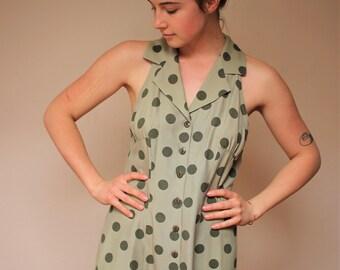 Dawn Joy Polka Dot green sleeveless