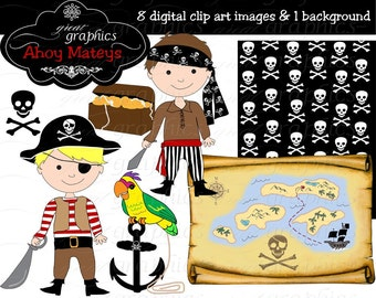 Pirate Boy Clipart Boy Pirate Pirate Digital Paper Pirate Clipart Pirate Party Paper Pirate Boy Instant Download