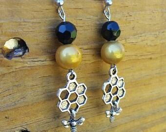 Bumblebee Dangle Earrings