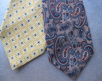 TWO Vintage Ties - Pierre Cardin - Italian - Silk - 70s/80s