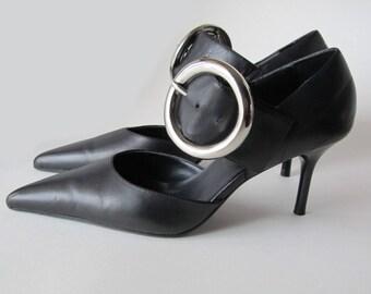 Steve Madden Women's Black Leather Shoes size 5.5
