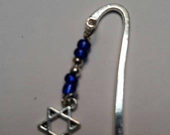 Jewish Star bookmark;  Star of David bookmark;  Shepherd's hook bookmark with Jewish star; Judaica