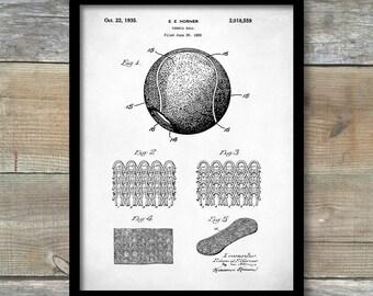 Tennis Ball Patent  Print, Tennis Ball Poster, Tennis Ball Print, Tennis Ball Art, Tennis Ball Decor, Tennis Ball Blueprint, P216