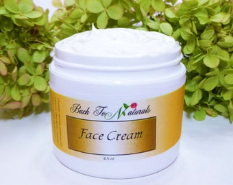 Natural Face Cream with Organic Evening Primrose - Organic Face Cream - Homemade Vegan Face Cream with Organic Coconut oil and Shea Butter