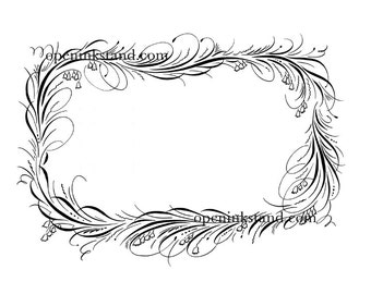 Digital download border flourish design