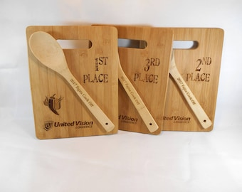 Chili Cook Off, 3 Award Boards, Bake Off,  Wood Plaque, Cooking Contest Trophy, Cook Off Trophy