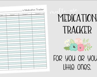 MEDICATION TRACKER - Instant Download - PDF