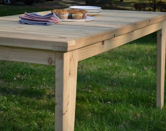 Outdoor Table, Cedar Table, Dining Table Kitchen Table, Cedar Furniture, Picnic Table, Free Shipping
