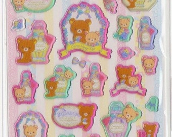Rilakkuma Raised Stickers - Reference A2541A3519