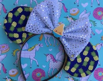 Pineapple mouse ears - pineapple mickey ears, dole whip mouse ears, dole whip mickey ears