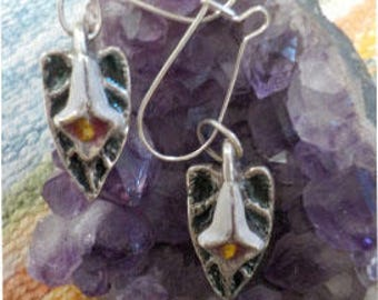 Sterling Silver Victorian Cslls Lily Earrings
