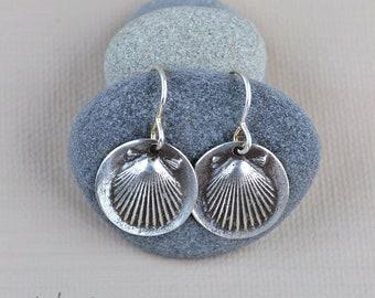 Sterling Silver Scallop Shell Earrings