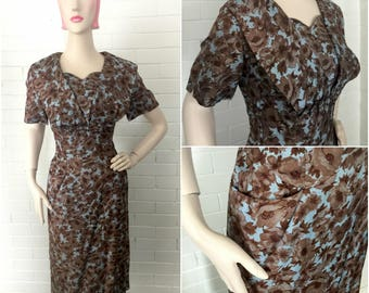 Vintage 1950s Wiggle Dress L/XL Volup