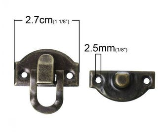 Accessory for the closure of box brass tone 3 x 2, 7cm in 2 parts