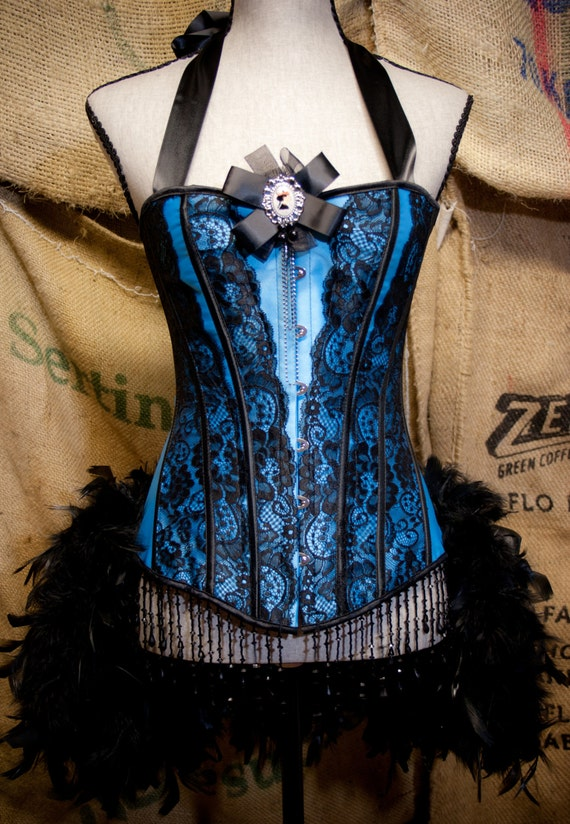 MARIE ANTOINETTE Burlesque Corset dress victorian costume for Steampunk gypsy party EVERYTHING Included!