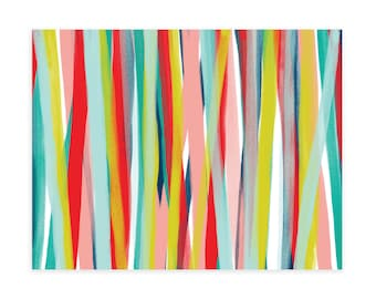 PAINTED STRIPE NOTECARDS, Notecard Set, Notecards and Envelopes, Notecards, Note cards, Note card set, All Occasion Cards
