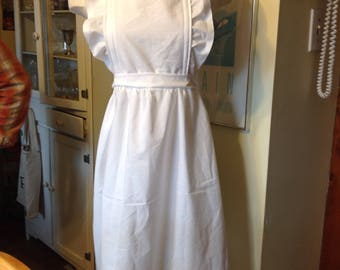 ruffled bib apron  ameila orphan maid rennaisance  adult size