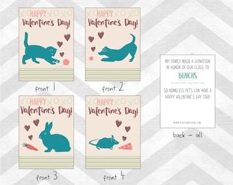 Classroom Valentines - animal shelter {customized}