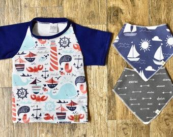 Ahoy Matey T Shirt & Bib Bundle