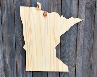 CUSTOMIZABLE Minnesota, State of Minnesota Wood Decor, Rustic State Home Decor, Wedding Housewarming Gift State, Other Sizes Available