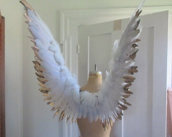 wearable wings Gold / White  Fairy Angel Bird cosplay