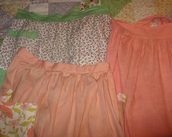 Vintage handmade aprons - 3 - so cute!