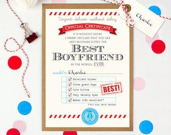 Boyfriend gift, Anniversary gift for boyfriend, Gift for Boyfriend, Funny birthday card boyfriend, Personalised card for boyfriend
