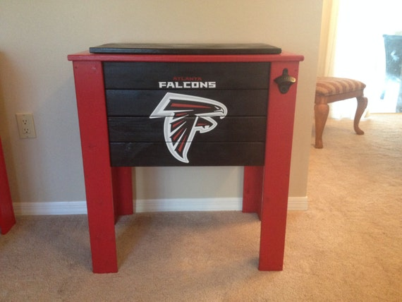Delicieux Atlanta Falcons Wood Cooler Stand