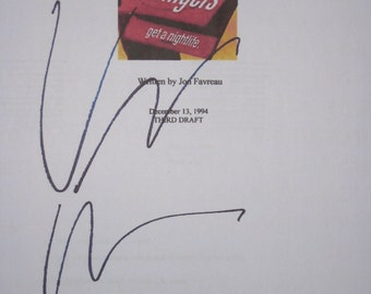 Swingers Signed Movie Film Script Screenplay Vince Vaughn Autograph signature funny film entire script