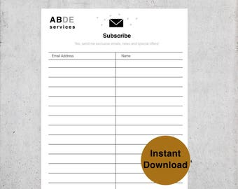email list template