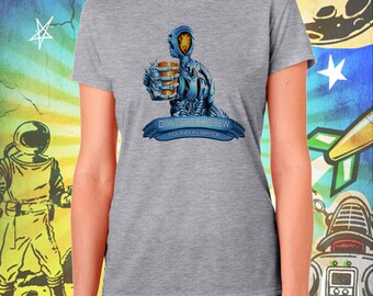 Lost in Space Reboot / Glitter Beer Robot / Found in Space / Gray Women's Performance T-Shirt