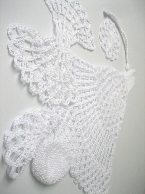 Flat angel white tall crochet angel angel decoration flat angel white tall crochet angel angel decoration christmas angel decor angel ornament christmas tree topper angel do it yourself solutioingenieria Images