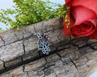 Hamsa Hand of Fatima Charm Necklace