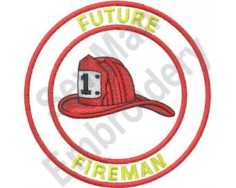 Future Fireman - Machine Embroidery Design, Fireman