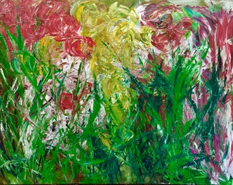 Painting Flower Abstract