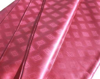 Burgundy Brocade - Super Bazin Riche - 100% Cotton