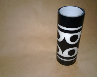 Groovy Black and White Geometric Candle Holder