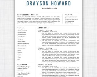 Resume Template Instant Download, Professional Resume Template, Free Resume  Template, Resumes, Cover