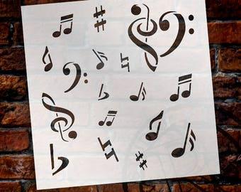 Love Music - Art Stencil - Select Size - STCL1112 - by StudioR12