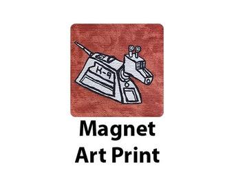 k9-KAN2 | Doctor Who K-9 Art Print Magnet