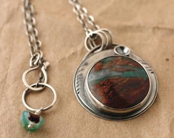 Aquaprase landscape necklace