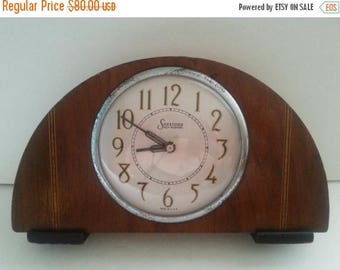 ON SALE Vintage Sessions Clock ** Self Starting Art Deco Antique Mantle Clock ** 1930's Man Cave Library Vintage Home Decor
