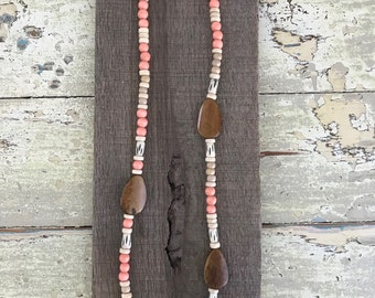Ox Bone Beaded Necklace